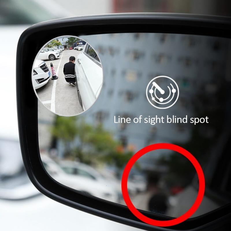 자동차 360 Degree Framless 맹점 거울 넓은 각도 라운드 볼록 미러 사이드 블라인드 스팟 Rearview 주차 미러 자동차 액세서리