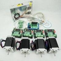 Ship from EU, CNC Router Kit 4 Axis,4pcs TB6560 stepper motor driver+interface board+4pcs Nema23 270 Oz in motor+power supply