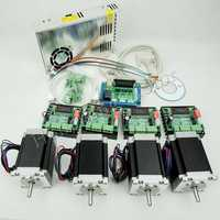 Ship from EU, CNC Router Kit 4 Axis,4pcs TB6560 stepper motor driver+interface board+4pcs Nema23 270 Oz-in motor+power supply