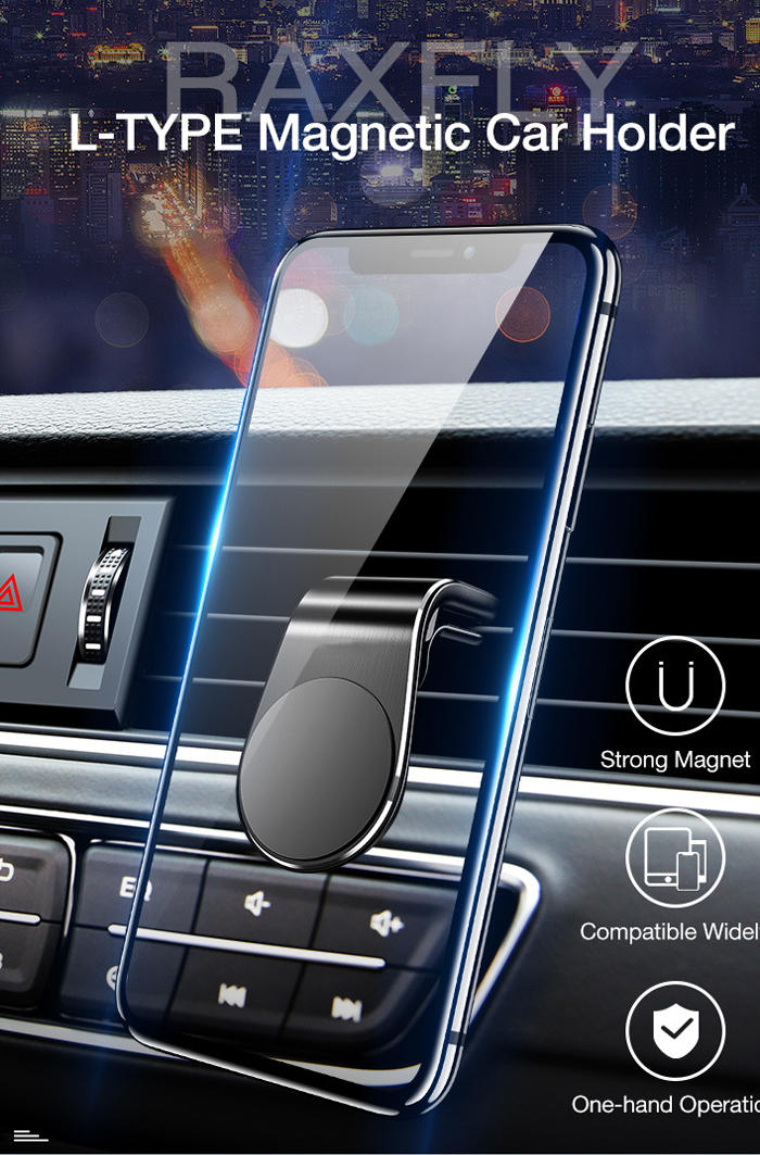 Fivetech Clip Magnetic Car Phone Holder Car Outlet Magnetic Phone Holder Cars Convenient Metal Phone Stand Compact Clip Bracket (1)