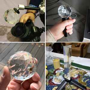 Image 5 - Crystal Prism DIY Photography Studio Accessories Crystal Prism Ball With 1/4 Screw Beam Splitting kaleidoscope Lens Filter