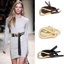 Luxury Designer 2020 New Lady Cute Wild Lightweight Soft Thin Belt Solid Metal H