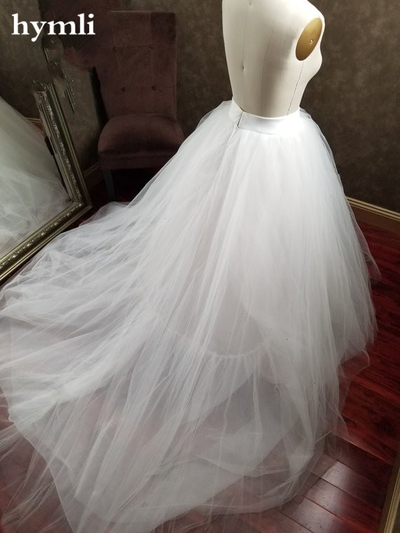 New White Ivory Tulle Bridal Ballgown Skirt / Bridal Train Skirt Wedding Skirt Detachable Skirt