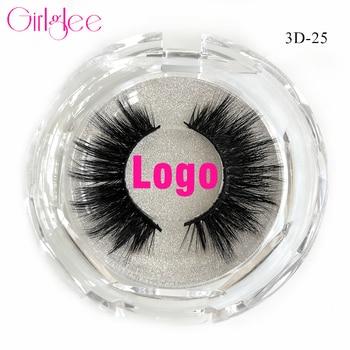 Natural Mink Eyelashes 3D Mink Lashes Long Thick False Eyelashes High Volume Eye Lashes Girlglee Hand Made Makeup Eyelash Soft 1