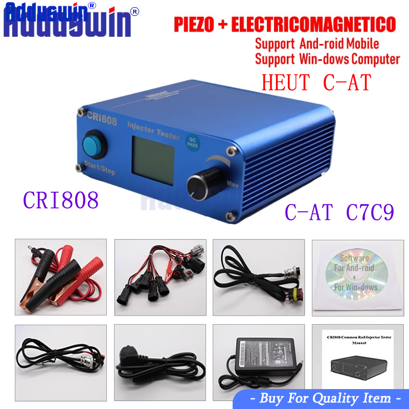Free Shipping CRI808 Multifunction Diesel common rail injector tester support electromagnetic and piezo bluetooth injector tools-in Engine Analyzer from Automobiles & Motorcycles