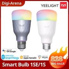 Yeelight-bombilla LED inteligente, lámpara de colores 1S/1SE, 800/650 lúmenes, E27, para aplicación para hogares, asistente de Google