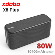 XDOBO X8 Plus 80W duża moc przenośny głośnik Bluetooth bezprzewodowy głęboki bas kolumna TWS Subwoofer muzyka centrum Boombox Soundbar TF