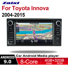 цена на ZaiXi 2 Din Car Multimedia Player Android 9 Auto Radio For Toyota Innova 2004~2015 DVD GPS 8 Cores 4GB+32GB Bluetooth WIFI