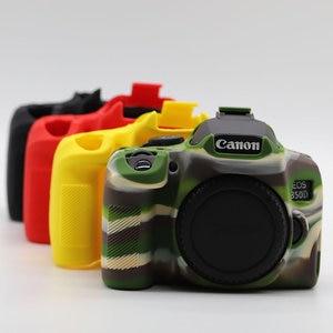 Image 3 - Silicone DSLR Camera Case Cover Bag for Canon EOS R 90D 250D 5D Mark III IV 6D II 6D2 5D3 5D4 1300D 800D 850D SL3 T8i T7i T6