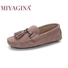 높은 품질 여성 신발 100% 정품 가죽 플랫 여성 인과 신발 여성로 퍼 봄가 운전 신발