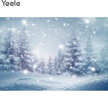 Фоны для фотосъемки yeele с изображением зимних снежных огней