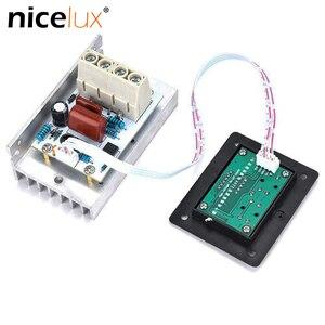 AC 220V SCR Control Digital voltaje electrónico 10000W regulador Control de velocidad/regulador/termostato con fuente de alimentación medidores digitales