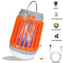 Светодиодный УФ светильник от комаров на солнечной батарее 2