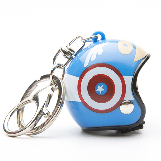Hot Helmet Key Chain Motorcycle Safety Keychain Men Holder Women Cute Trendy Iron Man Ring for Car Purse Bag Gift