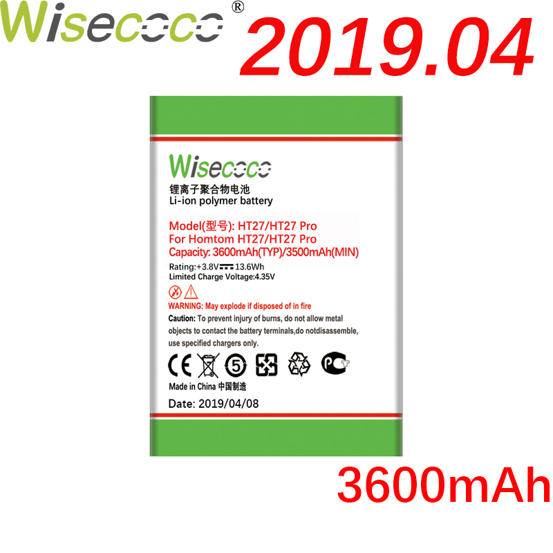 Wisecoco HT27 3600mAh Newly Produced Battery For <font><b>Homtom</b></font> HT27 <font><b>HT</b></font> <font><b>27</b></font> Pro Phone Battery Replacement + Tracking Number image