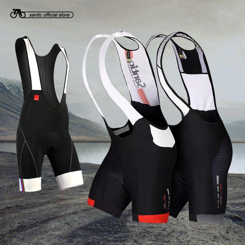 2016 Profession Santic Cycling Bib Shorts Men Coolmax Gel Padded Bike Set M5C05049H