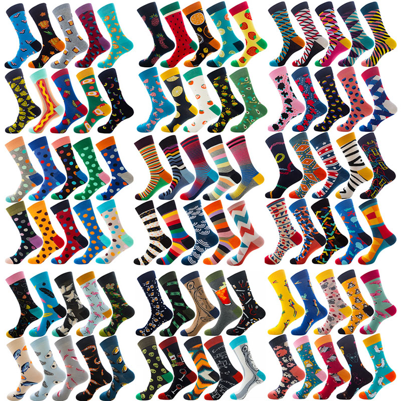 Over 200 Colors Happy Socks Men Van Gogh Harajuku Novedades Novelty Weed Socks Street Wear Korean Style Colorful Funny Sock PH