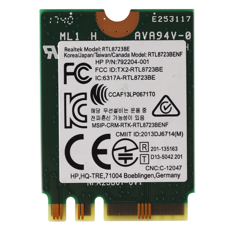 Wireless Adapter for Realtek RTL8723BE 802.11N WiFi Card Bluetooth 4.0 NGFF Card SPS 843338-001 300Mbps(China)