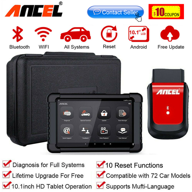 Ancel X6 OBD2 Scanner Bluetooth Professional Obd 2 Car Tools ABS Airbag Oil EPB DPF Reset Automotive Scanner Car Diagnostic Tool