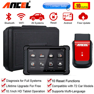 Image 1 - אנצ ל X6 OBD2 סורק Bluetooth מקצועי Obd 2 רכב כלים ABS כרית אוויר שמן EPB DPF איפוס רכב סורק רכב אבחון כלי