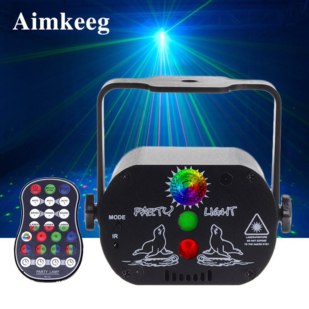 USB Charging Stage Light Christmas Lights Laser Projector Built-in Battery Voice Control Disco DJ Bar KTV Family Party Lamp