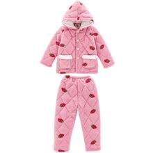 Детские Пижамы Детская зимняя Пижама; Одежда для сна; Комплект