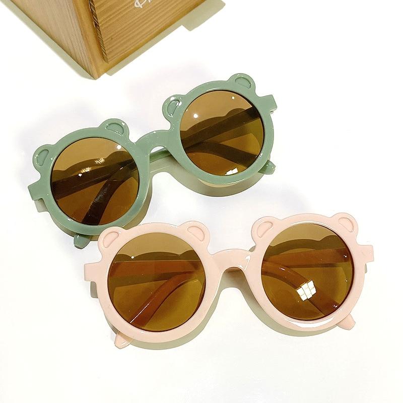 Fashion Cute Cartoon Bear Shape Sunglasses For Boys Girls Kids Sunglasses UV400 Protection Outdoor Classic Children Eyewear