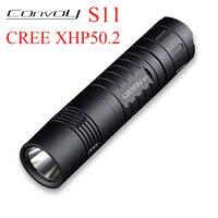 Convoy S11 Flashlight Linterna Led Cree XHP50.2 Powerful Torch Light Camp Lantern 18650 26650 Hand Flash Light Tactical Lamp