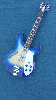 Rickenback azul personalizado 360 Semi hueco cuerda 6 cuerdas Jazz guitarra eléctrica Ricken con envío gratis