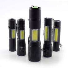 מיני גבוה כוח פנס 2 LED COB Q5 פנס USB linterna עבודת פלאש אור לפיד נטענת סוללה מנורת קמפינג linternas