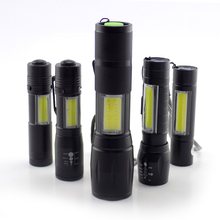 mini high power flashlight 2 LED COB Q5 penlight USB lintern
