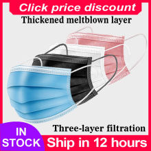 Mask Disposable Non wove 3 Layer Ply Filter Mask mouth Face mask Breathable Earloops Masks