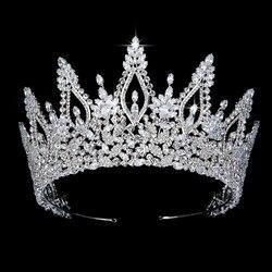 Tiaras And Crown HADIYANA Temperament Trendy Cubic Zircon Women Wedding Party Hair Accessories BC5433 Accesorios para el cabello