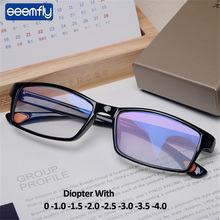 Myopic Eyeglasses Optical-Frame Square Ultralight Women TR90 Seemfly with Diopter-1.0-1.5-2.0-2.5-3-3.5