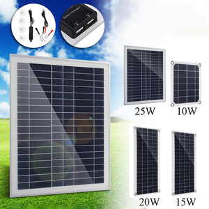 Image 3 - Зарядное устройство с двумя USB панелями для телефона, автомобильное зарядное устройство, контроллер для наружного кемпинга, светодиодный светильник, аккумулятор, двойной интерфейс USB, солнечная панель