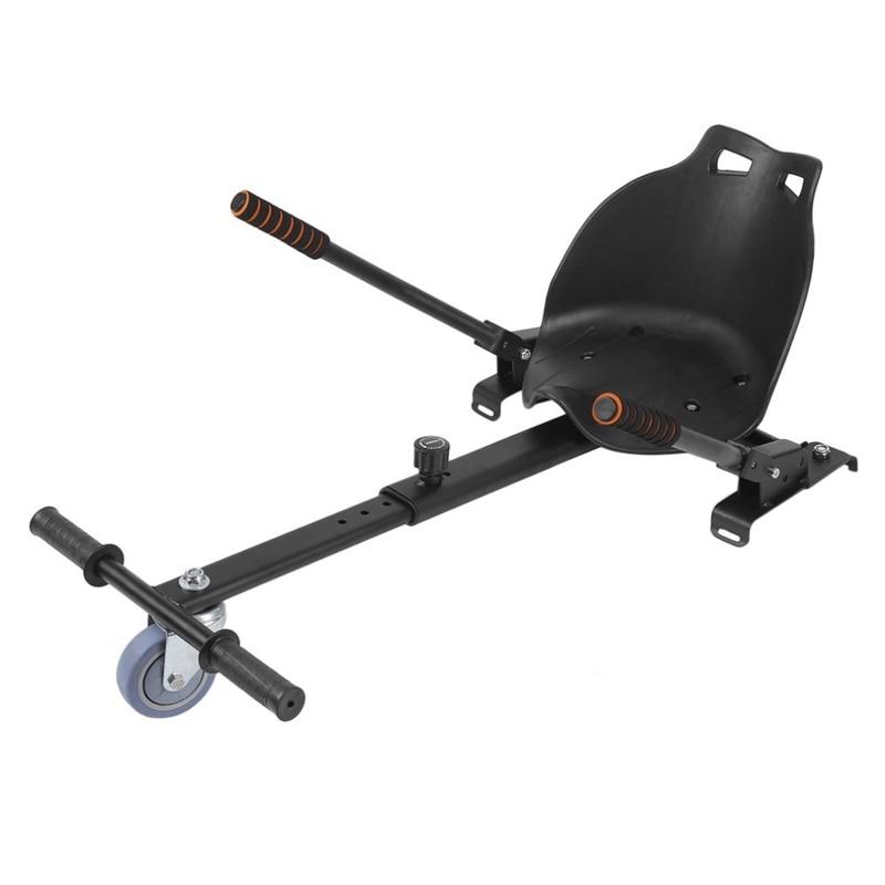 Balanced Drifting Kart ที่นั่งเบาะสำหรับ Karting Hoverboard สีดำ
