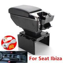 Per Seat Ibiza del bracciolo parti di Retrofit scatola di immagazzinaggio bracciolo auto accessori auto ricarica con USB