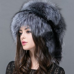 FXFURS Autumn and winter 2019 New Women 's Genuine raccoon dog russian fur hat real fox fur hat dome mongolian hat FXH-161013