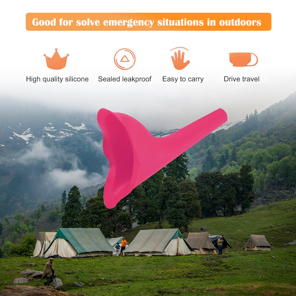 High Quality Portable Women Camping Urine Device Funnel Urinal Female Travel Urination Toilet Women Stand Up & Pee Soft 6