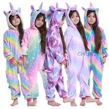 Pijamas Boys Unicorn Children Sleepwear Baby Winter New for 4-12years Cosplay Costume