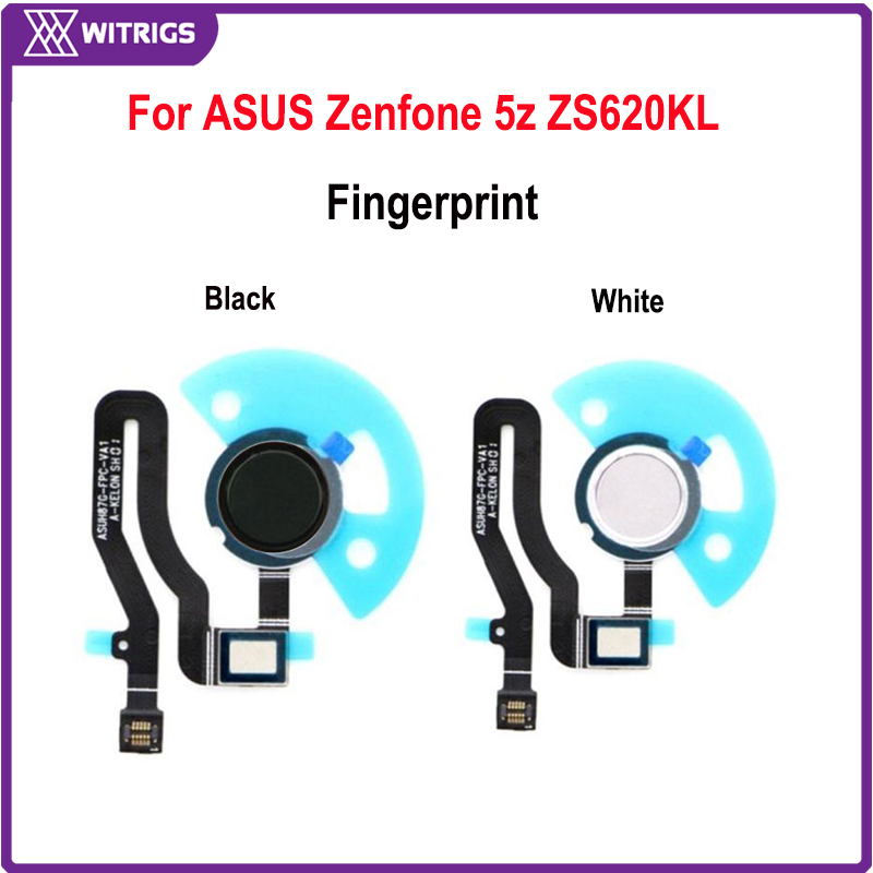 Witrigs For ASUS Zenfone 5z ZS620KL Fingerprint Scanner Touch ID Sensor Home Button Flex Cable Replacement