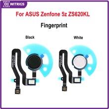 Witrigs Voor ASUS Zenfone 5z ZS620KL Vingerafdruk Scanner Touch ID Sensor Home Button Flex Kabel Vervanging