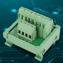 2 in 8 out terminal blocks DIN Rail and Panel Mounting Power Distribution Module  Board spring terminal block fuse module din rail mount 8 channel fuse power distribution module board