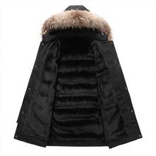-30 Degree Snow Cold Winter Jacket Men Thicken Fleece Hooded Parka Coat Men Warm