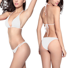 цены Halter Bikini Swimwear Women Bikinis Set Sexy Swimsuit Brazilian Biquini Swim Strap Bathing Suits Female String Swimming Wear