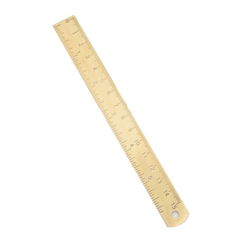 Vintage Brass Ruler Bookmark Label Book Mark Cartography Painting Measuring Tool PXPA