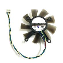 Ventilador cooler 4pin para asus, ventilador de refrigeração de placa de vídeo para asus gtx 560 gtx550ti hd7850 dc12v 75mm