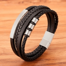 Bracelet Combination-Accessory Gift Classic Stainless-Steel Hand-Woven New-Style Men's