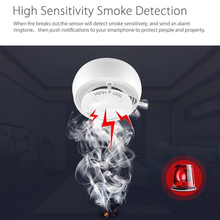 Frankever 1 pc wifi detector de fumaça