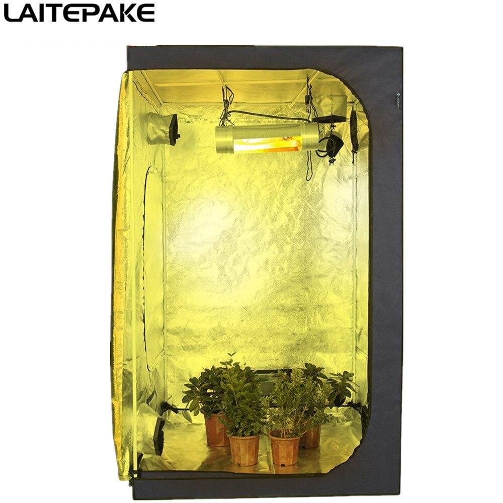 LAITEPAKE 120*120*200cm Indoor Hydroponics Grow Tent Garden Greenhouse Reflective Mylar Non Toxic Room Box